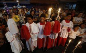 Пасха В римско-католических Филиппинах