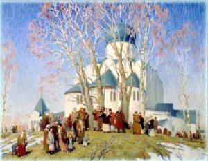 В России процессии проходили
