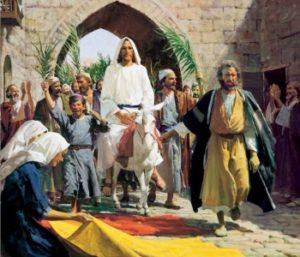 Иисус едет на ослике