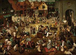 Картина маслом «Борьба между карнавалом и постом»