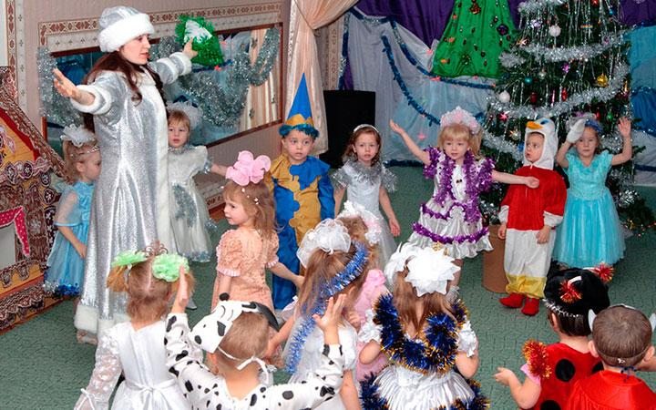 План празднования Нового года в детском саду