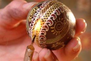 Использование пасхальных яиц в украшениях