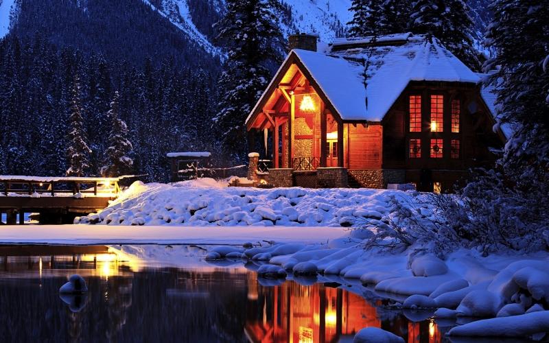 Провести Новогодние каникулы на природе